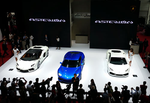 Lamborghini Asterion LPI 910-4  unveiled at the 2014 Paris Mondial de l'Automobile